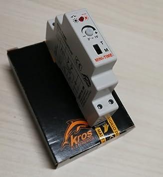 Temporizador Luz Escaleras X Guía Din con interruptor on off Made in Italy: Amazon.es: Bricolaje y herramientas