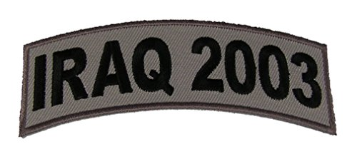 IRAQ 2003 TAB DESERT ACU TAN ROCKER PATCH - Veteran Owned Business.