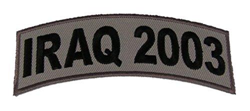 IRAQ 2003 TAB DESERT ACU TAN ROCKER PATCH - Veteran Owned (Iraq Patch)