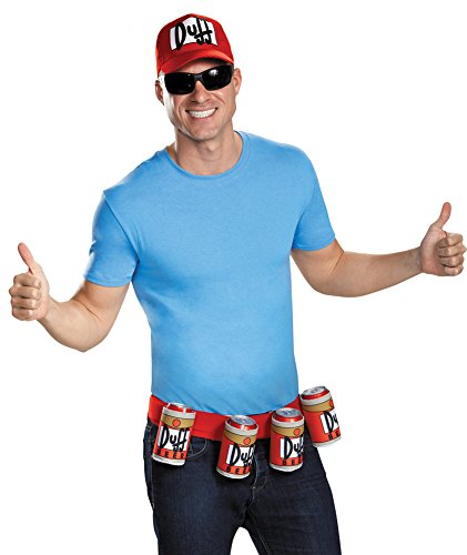 Duffman Costume Large (Mens Halloween Costume- Duffman Adult Costume Accessory Kit)