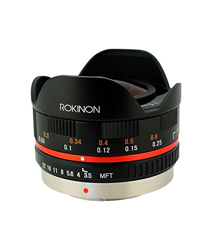 Rokinon FE75MFT-B 7.5mm F3.5 UMC Fisheye Lens for Micro Four Thirds