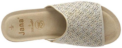 Jana Damen 27202 Pantoletten gold (pepper/Lt. gold)