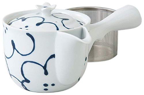Saikai Pottery Flower pattern Kyusu Japanese Teapot with super stainless strainer from Japan 73457