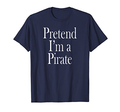 Mens Pirate Costume T-Shirt for the Last Minute Party Large Navy