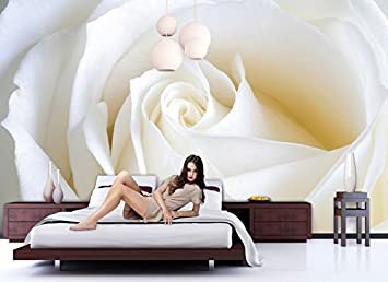 Papier peint photo poster Rose blanche N ° 8T de 104 Papier peint ...