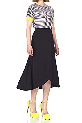 Dani's Choice Easy Chic Wrap Style Full Flared Skater Swing Midi Long Maxi Skirt
