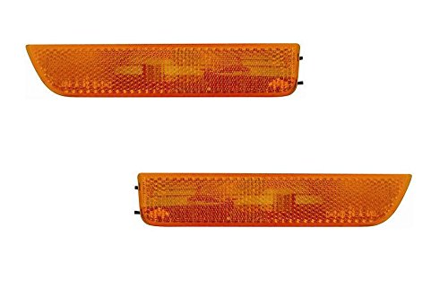 VOLKSWAGAN PASSAT PAIR SIDE MARKER LIGHT(AMBER) 01-05 NEW (Passat Amber Corner)