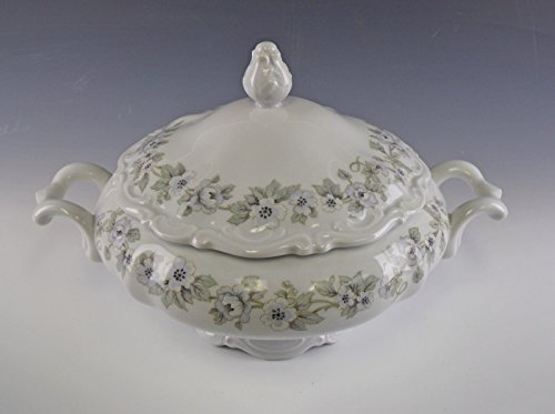 Mitterteich China BRIDAL VEIL 7??? Round Covered Vegetable Bowl EX