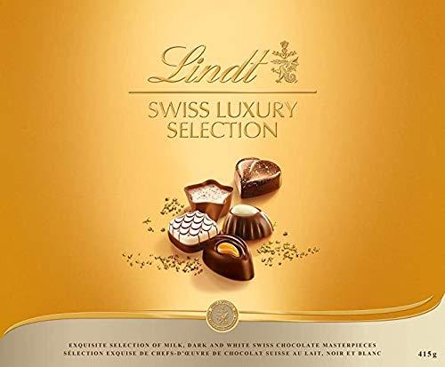 CDM product Lindt Swiss Luxury Selection Gift Box, Fine Milk, Dark and White Chocolate, 415g big image