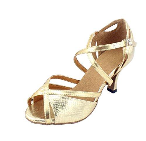 Ankle Pu Peep Gold Tacco Latin nbsp;donna Ballo Toe Minitoo Tango wrap Qj6028 Sandali Med Salsa Da qxUYEvZ