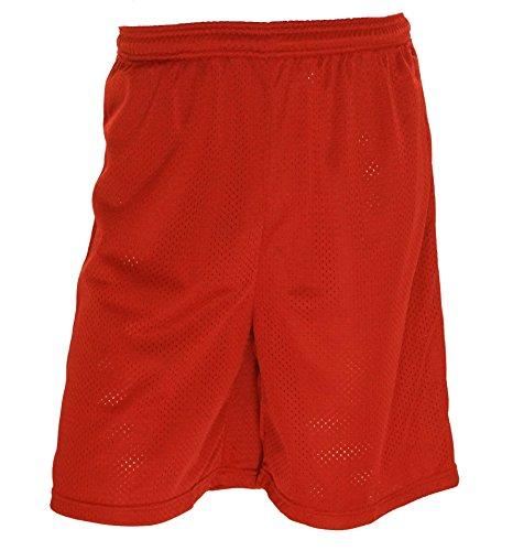 (Wilson Men's Mesh No Pocket Athletic Shorts Scarlet X-Large)