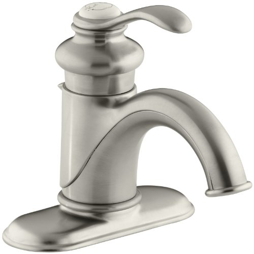 KOHLER K-12181-2BZ Fairfax 4 In. Centerset Bathroom Sink Faucet with Single Lever Handle, Vibrant Brushed (Fairfax 2 Handle)
