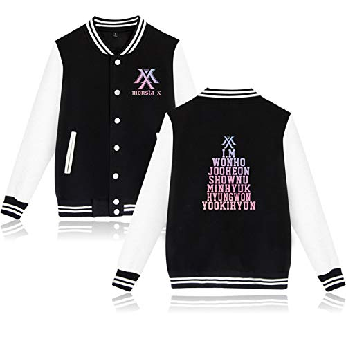 BOSON Monsta X Baseball Jacket Jooheon Kihyun IM Shownu Unisex Sweatshirt Coat