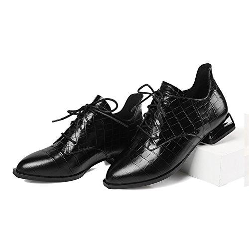 mujeres calza de zapatos viento profunda mujer Otoño mujer Zapatos de A zapatos planos puntiagudos de de Inglaterra Señora P71ngqx4
