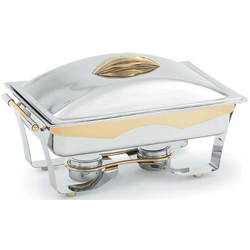 Vollrath 48322 Panacea S/S 9 Quart Chafer with Gold Trim ()