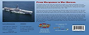 WWII Yorktown Class Aircraft Carrier Laser Cut Wooden Ship Kit Atlantis Toy and Hobby