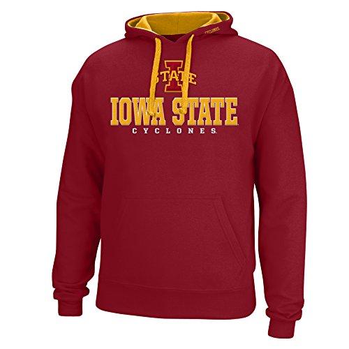 NCAA Iowa State Cyclones Men's Logo School Name Foundation Hoodie, XX-Large, Garnet/Gold