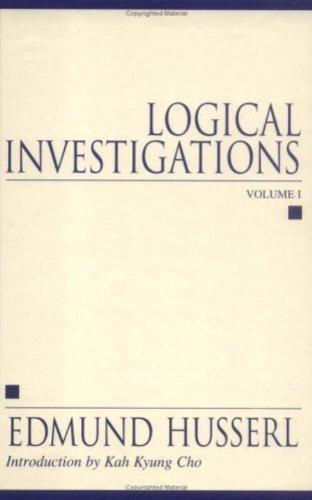 Logical Investigations, 2 Volume-Set