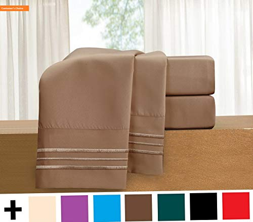 Mikash New Soft 4-Piece Sheet Set-Luxury Bedding 1500 Thread Count Egyptian Quality Wrinkle and Fade Resistant Hypoallergenic Cool & Breathable, Easy Elastic Fitted, Full, Taupe-Tan | Style 84598098
