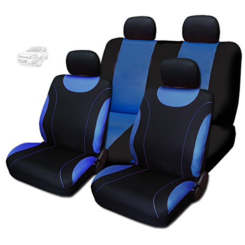 NEW YupbizAuto 8 Pieces Sleek Design Flat Cloth Front and