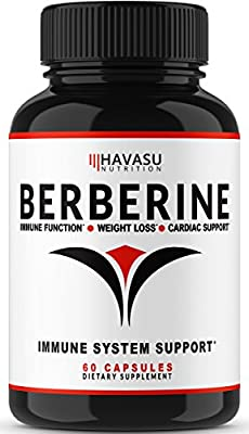 Premium Berberine Supplement 500MG With Added Absorption Agent For Max Immune System, Digestion & Cardiovascular Support | Supports Healthy Blood Sugar Levels & Glucose Metabolism – 60 Capsules