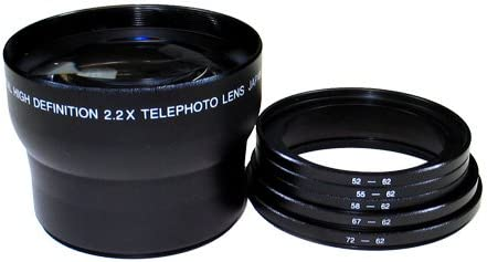 Sakar Digital Concepts 2X 62mm Deluxe Telephoto Lens Includes Rings