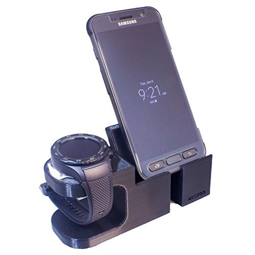Artifex Design Stand configured for Huawei 2 Watch Stand, Charging Dock Stand for Huawei Watch 2 Classic and Sport, New 3D Printed Technology, Smartwatch Cradle (Combo)