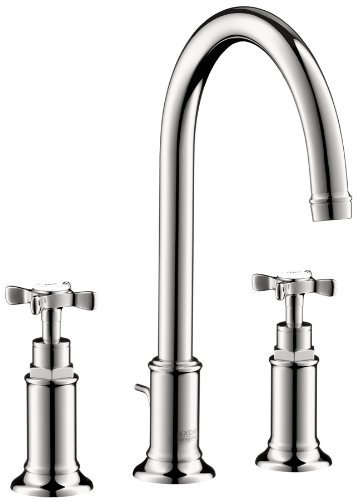 Axor 16513001 Montreux Widespread Faucet with Cross Handle, Chrome - Axor Montreux Lavatory