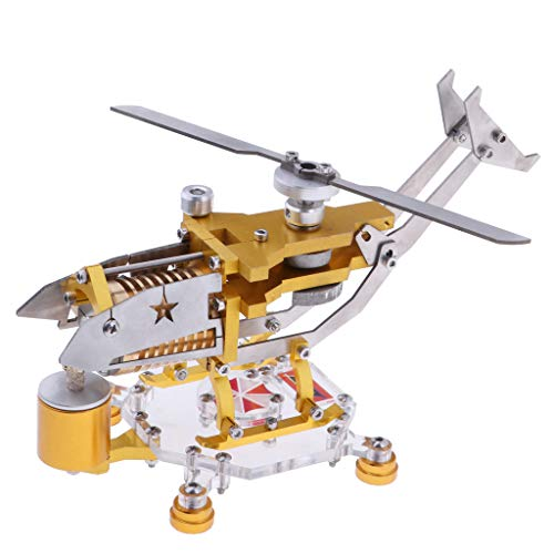 - Flameer Helicopter Rotor Stirling Engine Heat Energy Motor Power Model Mechanical Work Device Collection Toy