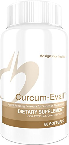 Designs for Health Curcum-Evail – Bioavailable Turmeric Curcumin Supplement – Patented Formula for Superior Absorption…