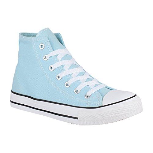 Chaussures Sport High Aus Loisirs fällt Elara Unisexe Blue Top Basic De Größer Tissu Sneakers BITRYTq