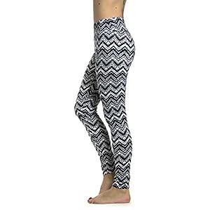 Prolific Health Leggings Brushed Printed Yoga (Large, BW Chevron)