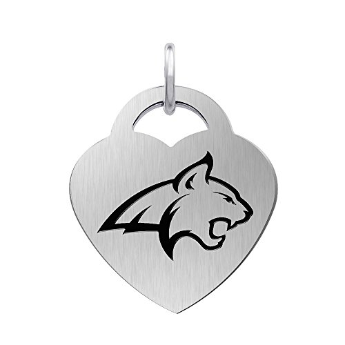 (Montana State Bobcats Laser Engraved Stainless Steel Heart Charm)
