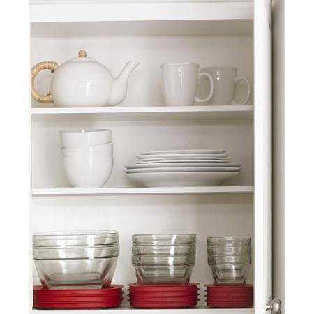 Rubbermaid Value Pack 6 Piece 4 Cup Capacity Clear Red