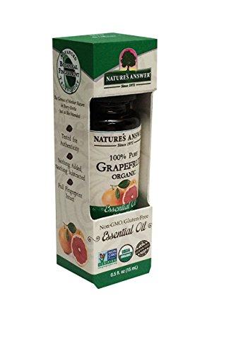 Nature's Answer Pure Organic, Grapefruit Essential Oil, 0.50 oz