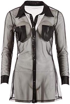 Cottelli Collection Party Bluse, L, schwarz