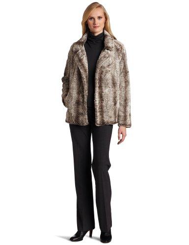 Karen Kane Women's Notch Collar Faux Fur Jacket