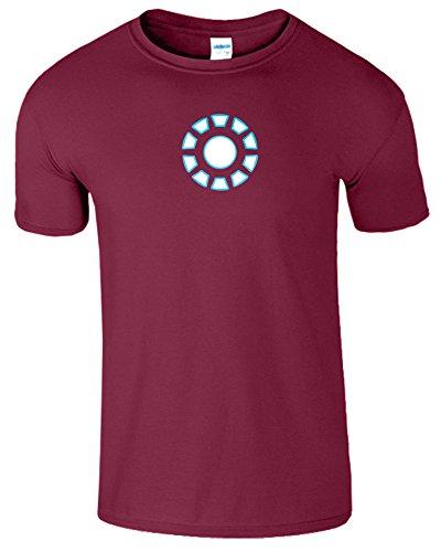 """SNS Online Kastanienbraun - L - Brustumfang : 42"""" - 44"""" - Iron Man Arc Reactor Frauen Der Männer Damen Unisex T Shirt"""