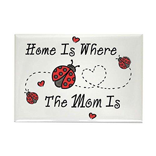 CafePress Ladybug Home Is Mom Rectangle Magnet Rectangle Magnet, 2