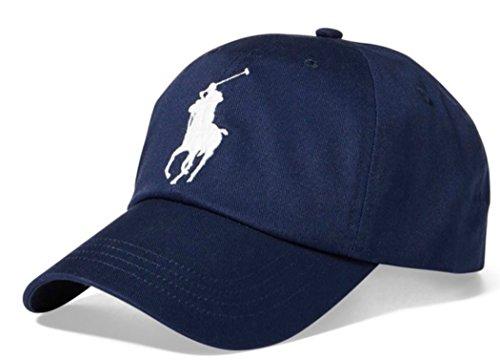 PoloRalphLauren Polo Ralph Lauren Men Big Pony Logo Hat Cap One Size (Hol Navy)
