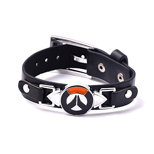 Hot PS4 Game Overwatch Alloy Logo Bracelet Fashion Black - Import It All