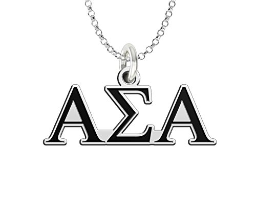 (Alpha Sigma Alpha Sterling Silver Antique Letters Charm)