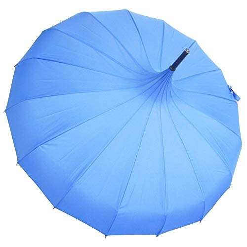 LLL~YS 2019Popular Pure Pagoda Umbrella Gift Umbrella Customized Printing Logo Anti-Ultraviolet and Anti-Dust (Color : Blue, Size : 56cm16k)