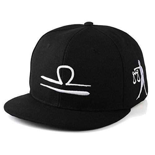 Zodiac Hat - BIBITIME BIBITME Hip Hop 12 Constellation Embroidered Zodiac Hats Baseball Cap Snapback (Adjustable Circumference:22