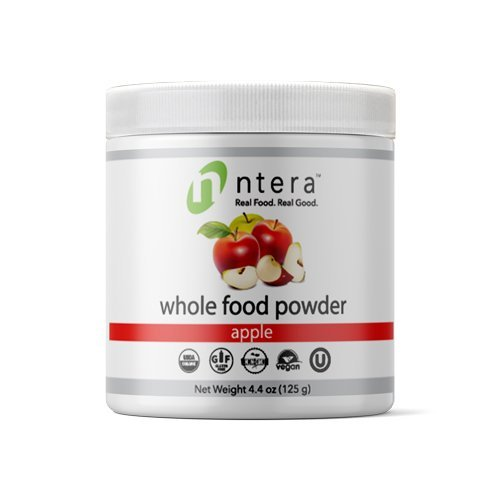 Nutrition Premium Shake (NTERA Apple Whole Food Powder (USDA Organic, Gluten-Free, Non-GMO, Vegan, Kosher) - Ultra Premium Nutrition (USA, GMP) - 125 Grams (4.4 Ounces))