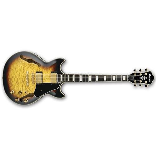 Ibanez AM93AYS Artcore Expressionist Semi-Hollow Electric Guitar, Yellow (Custom Electric Guitar Antique)
