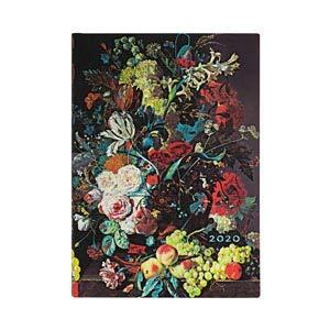 Paperblanks Agende Flexi a Copertina Morbida di 12 Mesi 2020 Ribelle di Mezzanotte Orizzontale 130 /× 180 mm Midi