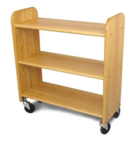 Catskill Craftsmen Library Book Truck with Flat Shelves, Natural Oak Grain by Catskill Craftsmen