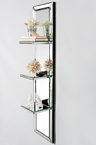 (Statements by J Wall-Mounted Mirrored Shelf, Antique Silver)