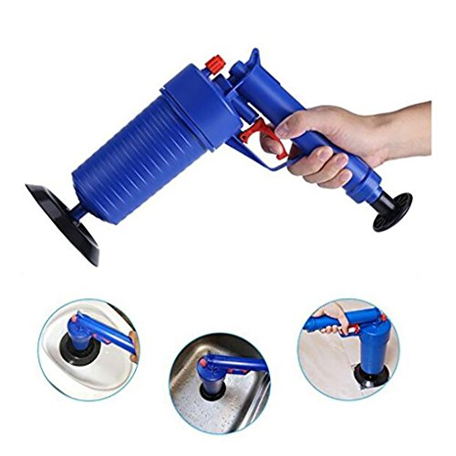 Air Drain Blaster, High Pressure Air Drain Toilet Plunger Sink Pipe Dredge Remover, Home Office Toilet Floor Drain Tubs Sinks Air Power Plunger Blaster Pump (Typhoon Air Pump)